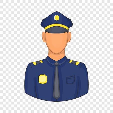 Policemen icon in cartoon style Illustration