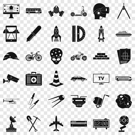 Strategy development icons set, simple style Imagens - 119407897