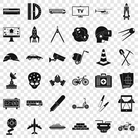 Business development icons set. Simple style of 36 business development vector icons for web for any design
