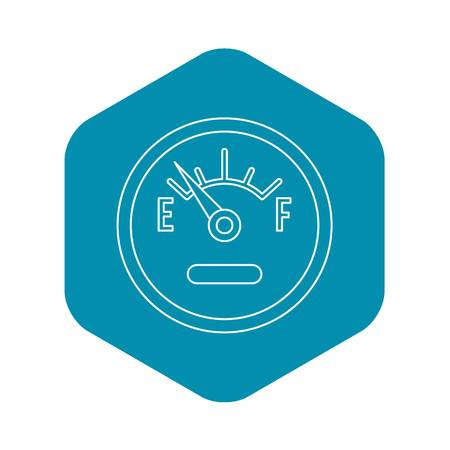Fuel gauge showing empty icon. Outline illustration of fuel gauge showing empty vector icon for webicon. Outline illustration of vector icon for web