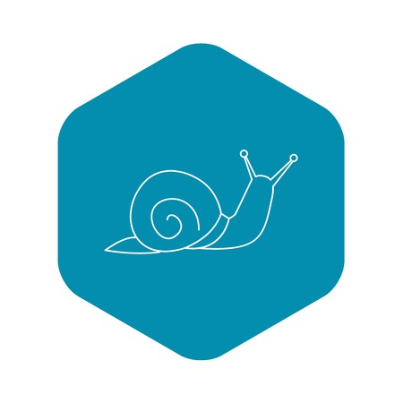 Snail icon, outline style
