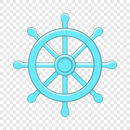 Wheel of Dharma icon, cartoon style Illustration