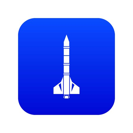 Atomic rocket icon digital blue for any design isolated on white vector illustration