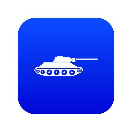 Tank icon digital blue for any design isolated on white vector illustration Иллюстрация