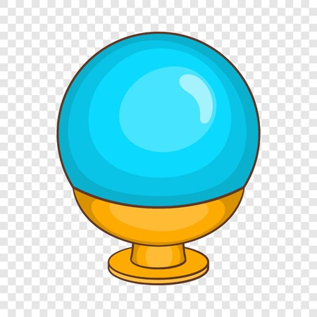 Magic ball icon in cartoon style on a background for any web design