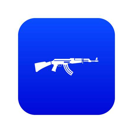 Military rifle icon digital blue for any design isolated on white vector illustration Illustration