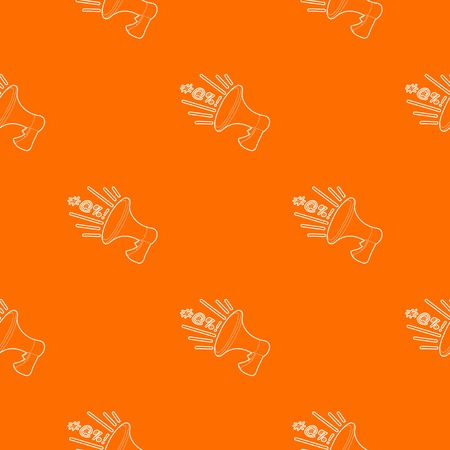Loudspeaker pattern vector orange for any web design best Illustration