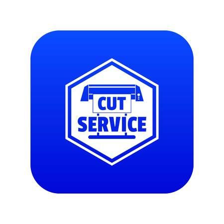 Cut service icon blue vector Vettoriali