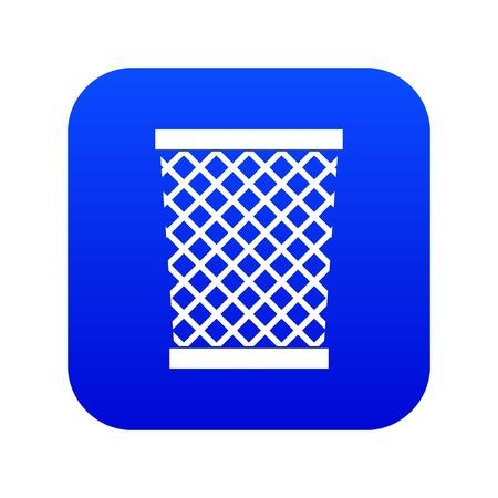 Wastepaper basket icon digital blue