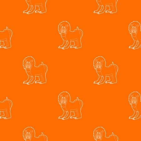 Mandrill pattern vector orange