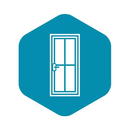 Glass door icon, simple style