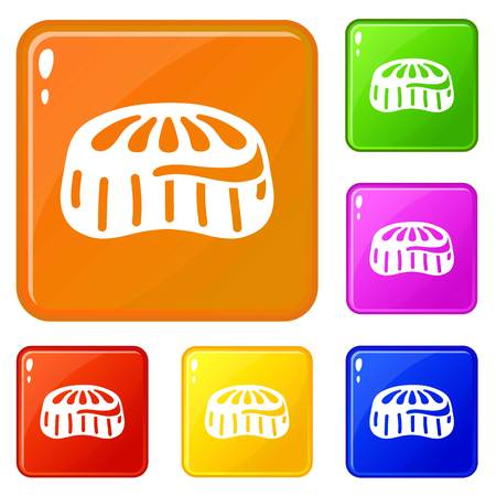 Candy jelly icons set vector color