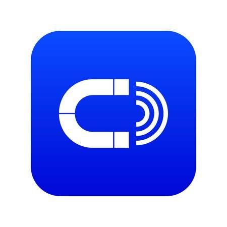 Magnet icon digital blue