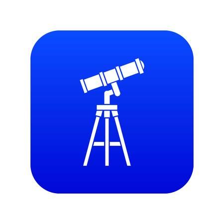 Telescope icon digital blue