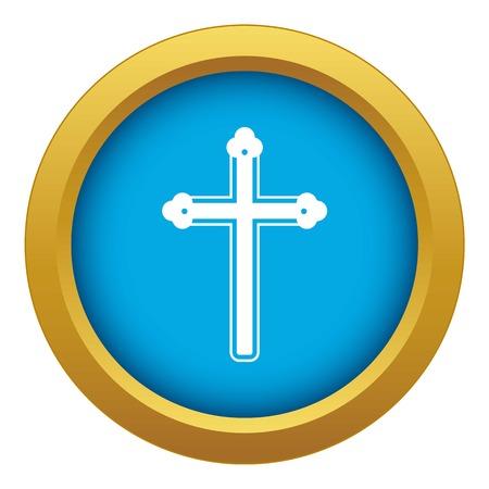 Santa Croce icona vettore blu isolato Vettoriali