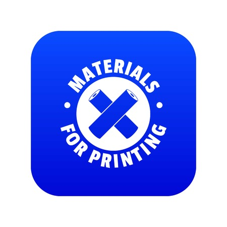 Materials for printing icon blue vector Stock Illustratie