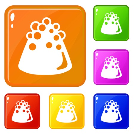 Choco truffle icons set vector color Ilustrace