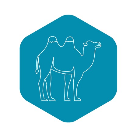 Bactrian camel icon, outline style