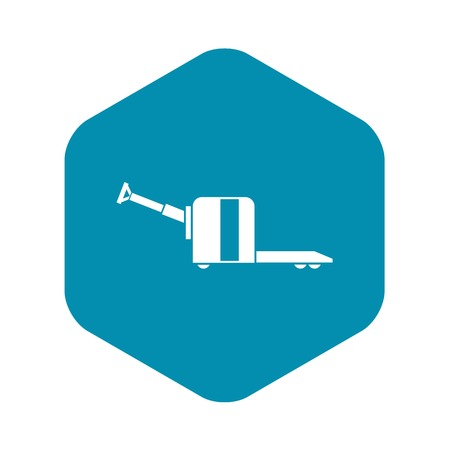 Cart on wheels icon, simple style Ilustração