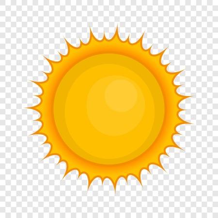 Sun icon, cartoon style Illustration