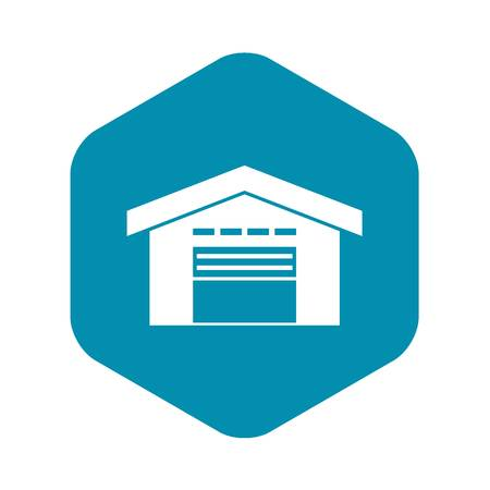 Warehouse icon, simple style