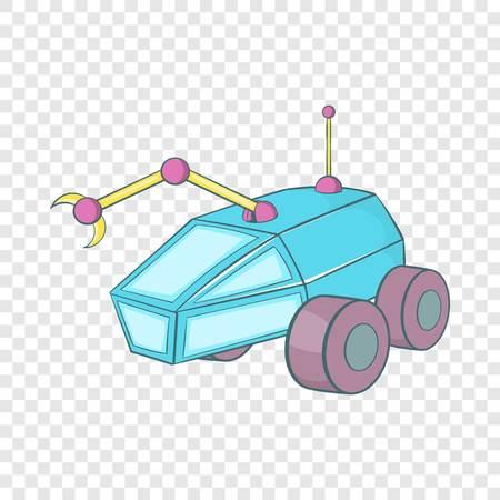 machinery transport icon, cartoon style