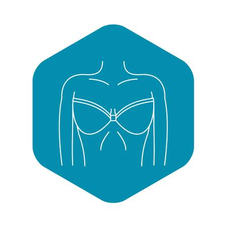 Women wearing in a bra icon, simple style