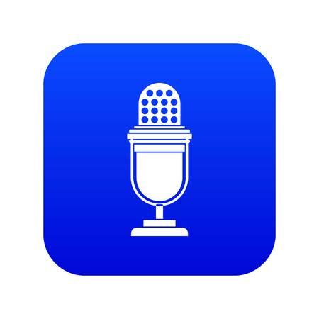 Lighting equipment icon digital blue
