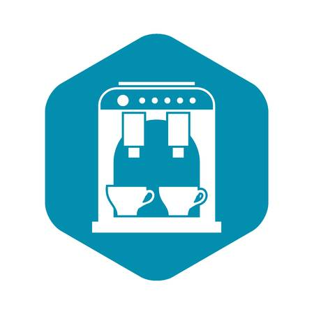 Coffee machine icon, simple style