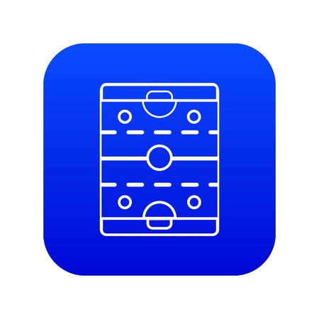 Hockey ice field icon blue vector