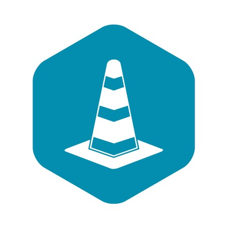Traffic cone icon, simple style Stock Illustratie