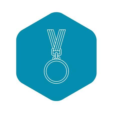Cat medal icon. Outline illustration of cat medal vector icon for web design Illustration