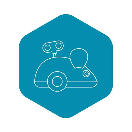 Clockwork mouse icon. Outline illustration of clockwork mouse vector icon for web design