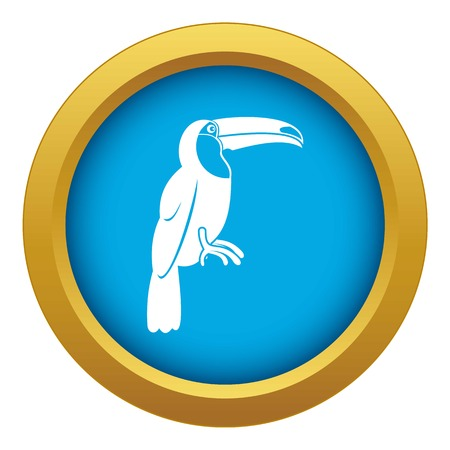 Brazilian toucan icon blue vector isolated on white background for any design