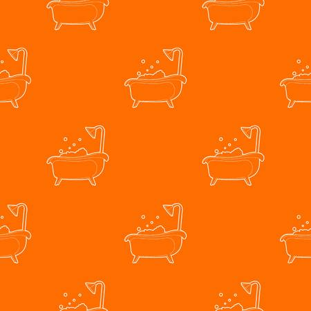 Bath pattern vector orange for any web design best