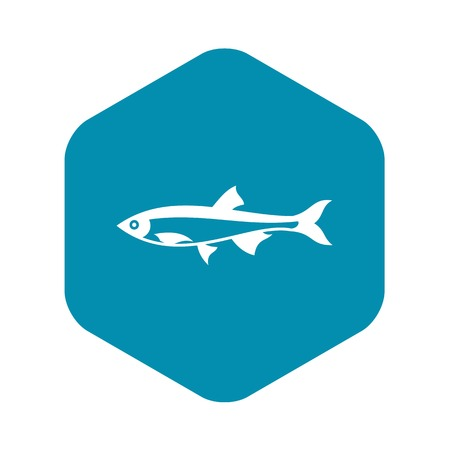 Herring fish icon in simple style on a white background Vettoriali