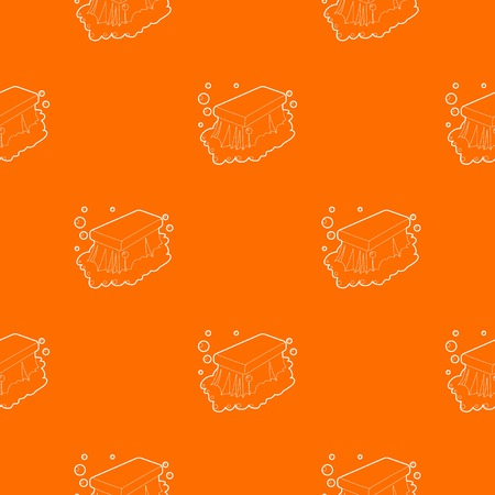Wet cleaning pattern vector orange for any web design best Illustration