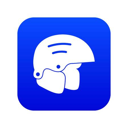 Snowboard helmets icon digital blue for any design isolated on white vector illustration