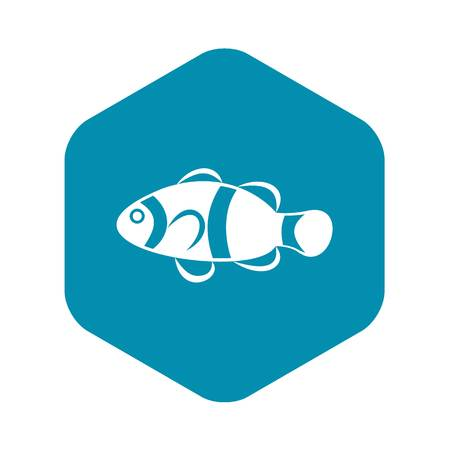 Cute clown fish icon in simple style isolated vector illustration Illustration