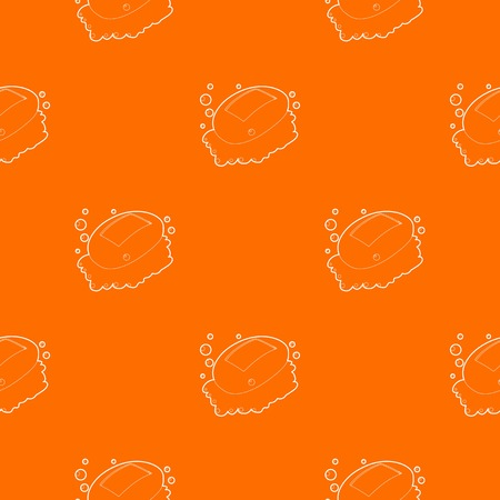 Soap pattern vector orange for any web design best Illustration