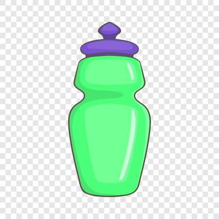 Flask for water icon in cartoon style isolated on background for any web design 向量圖像