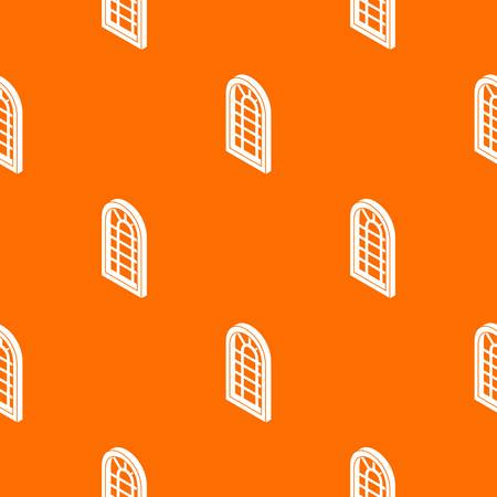 Palace window frame pattern vector orange for any web design best