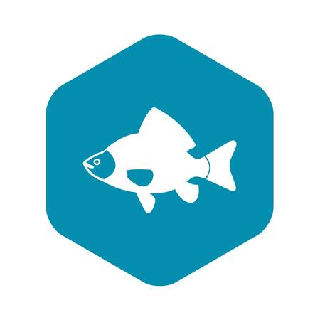 Fish icon in simple style isolated vector illustration