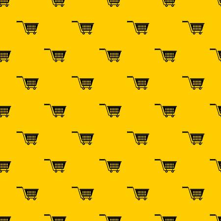 Plastic shopping trolley pattern seamless vector repeat geometric yellow for any design