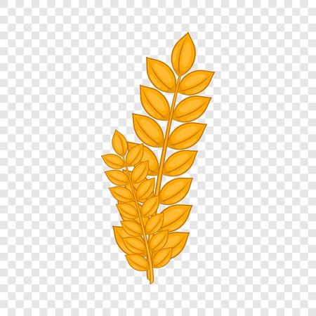 Icona di germe di grano in stile cartone animato isolato su sfondo per qualsiasi web design