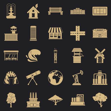 Country icons set. Simple set of 25 country vector icons for web for any design