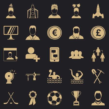 Leader icons set. Simple set of 25 leader vector icons for web for any design