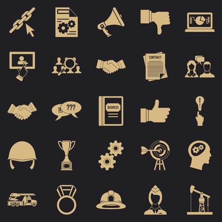 Head icons set. Simple set of 25 head vector icons for web for any design Çizim