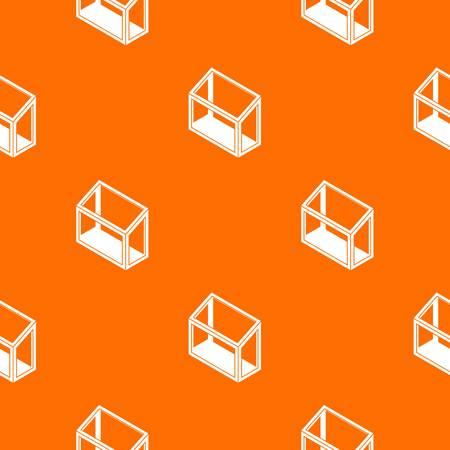 Balcony window frame pattern vector orange