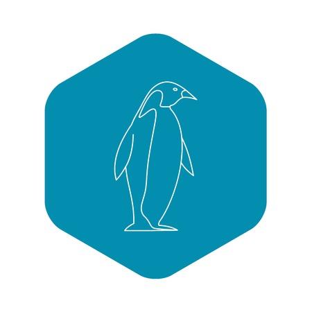 Penguin icon, outline style Ilustracja